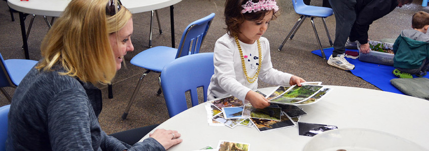 Child Identifies Plants and Animals During Fabulous Forests Program 4-8-2015